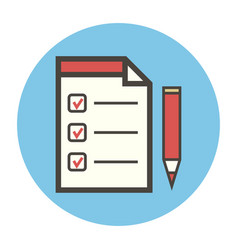 Blank contract and red pencil vector