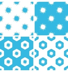 Burst patterns set vector