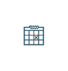 calendar icon design essential icon vector image