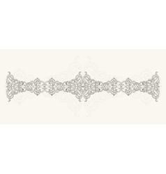 Calligraphic design ornament vector image
