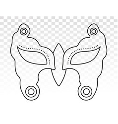 Carnival festival disguise mask - line art icon vector