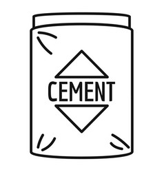 Cement bag icon outline style vector