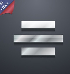 Center alignment icon symbol 3D style Trendy vector
