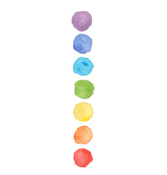 Chakra colors watercolor stains vector