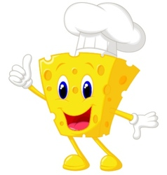 Cheese chef cartoon vector image