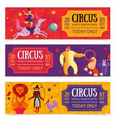 circus horizontal banners set vector image