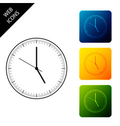 clock icon isolated time icon set icons colorful vector image