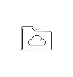 cloud folder icon vector image