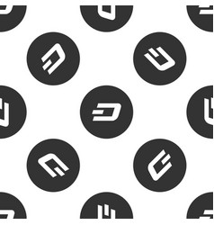 Cryptocurrency coin dash icon seamless pattern vector
