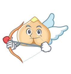 Cupid chickpeas character cartoon style vector