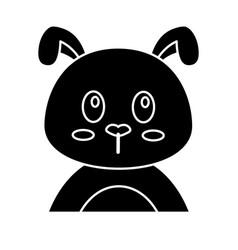 cute dog icon vector image