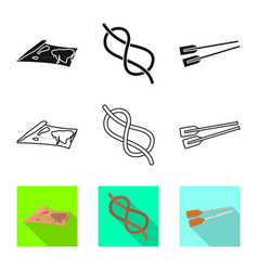 design journey and seafaring symbol set vector image