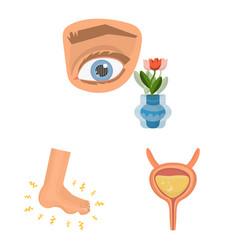 Design mellitus and diabetes symbol set vector