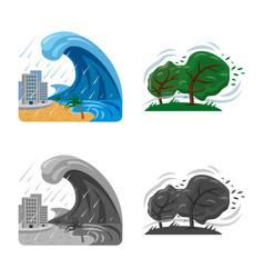 Design of natural and disaster symbol set vector