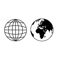 earth globe sample icons vector image