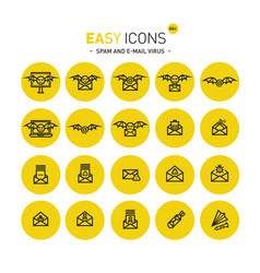 Easy icons 46c computer crime vector