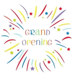 Fireworks ball star and strip grand opening vector