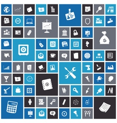 Flat design icons for business and industrial vector