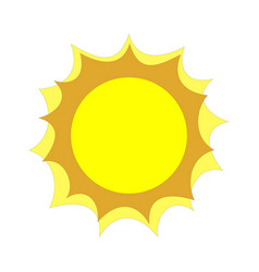 flat sun icon on white vector image