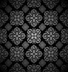 Floral wallpaper silver tile vector
