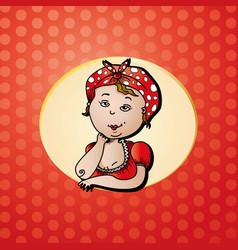 Funny auntie logo vector