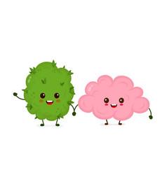 funny smiling happy marijuana weed vector image