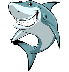 funny white shark vector image