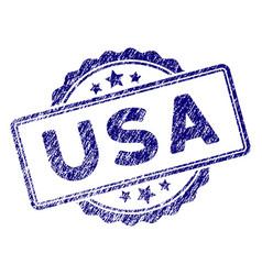 Grunge textured usa text stamp seal vector