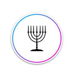 hanukkah menorah icon isolated on white background vector image