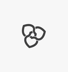 Heart interlocking on white background creative vector