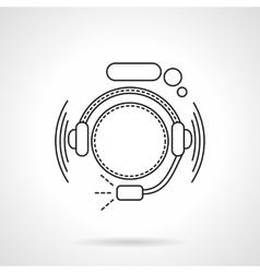 Hotline icon flat line icon vector image
