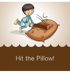 Idiom hit pillow vector