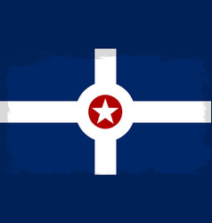 Indianapolis city flag vector