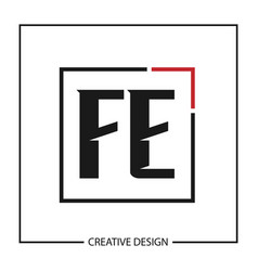 Initial letter logo fe template design vector