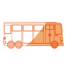 isolated big bus car vector image