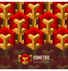 Isometry background vector