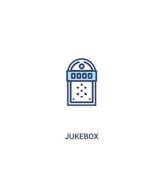 jukebox concept 2 colored icon simple line vector image