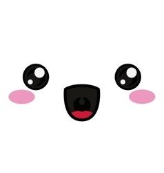 kawaii happy face design vector image vector image