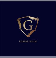 Letter g alphabetic logo design template isolated vector