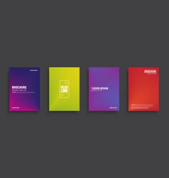 minimal design brochures vector image