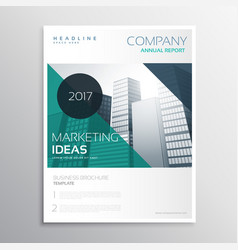 Modern business annual report flyer brochure vector