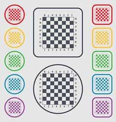 Modern Chess board icon sign symbol on the Round vector image