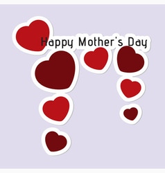 Mothers Day card with hearts and text vector image