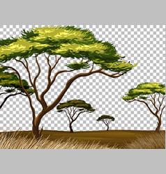 Nature outdoor landscape transparent background vector