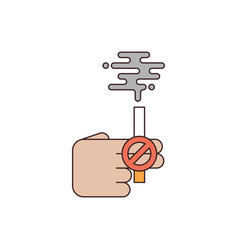 no smoking and anti tobacco concept flat design vector image