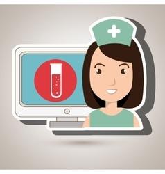 Nurse medical uniform woman vector
