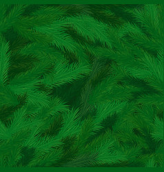 Pine tree branches with needles seamless pattern vector