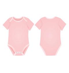 Pink bagirl bodysuit vector
