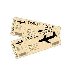 Plane tickets vector