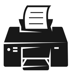 printing printer icon simple style vector image